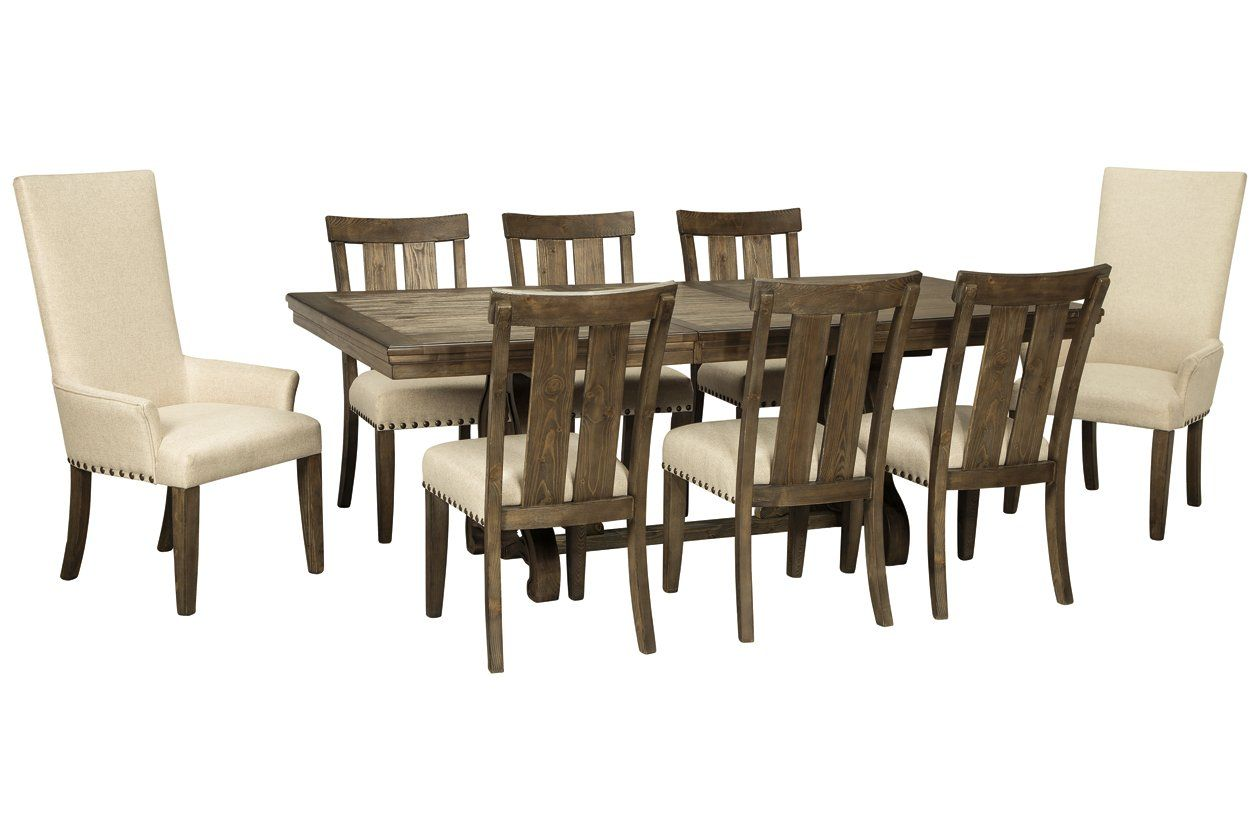 Wendota Dining Table And 8 Chairs Ashley Furniture Homestore In
