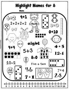 Freebie: Names for Numbers Worksheet   Math   Pinterest   Hojas de ...