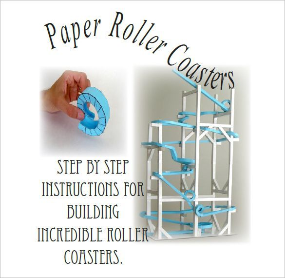 7  paper roller coaster templates