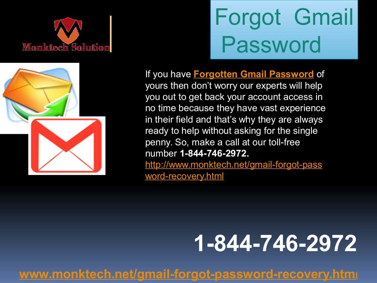 Do you want to recover your Gmail Password 1844
