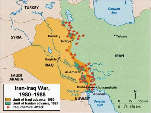 Iraqi advancements and losses iran iraq war historical maps iraqi advancements and losses iran iraq war gumiabroncs Gallery