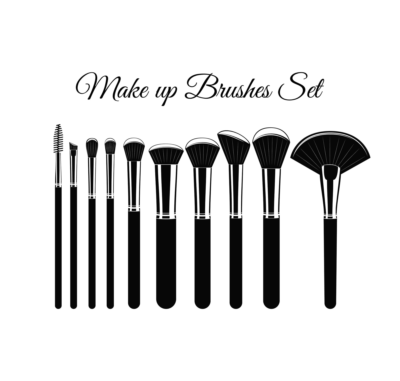 Makeup Brushes Set Svg Cosmetic Brush Beauty Salon Logo Etsy In 2021 Makeup Brush Set It Cosmetics Brushes Beauty Salon Logo