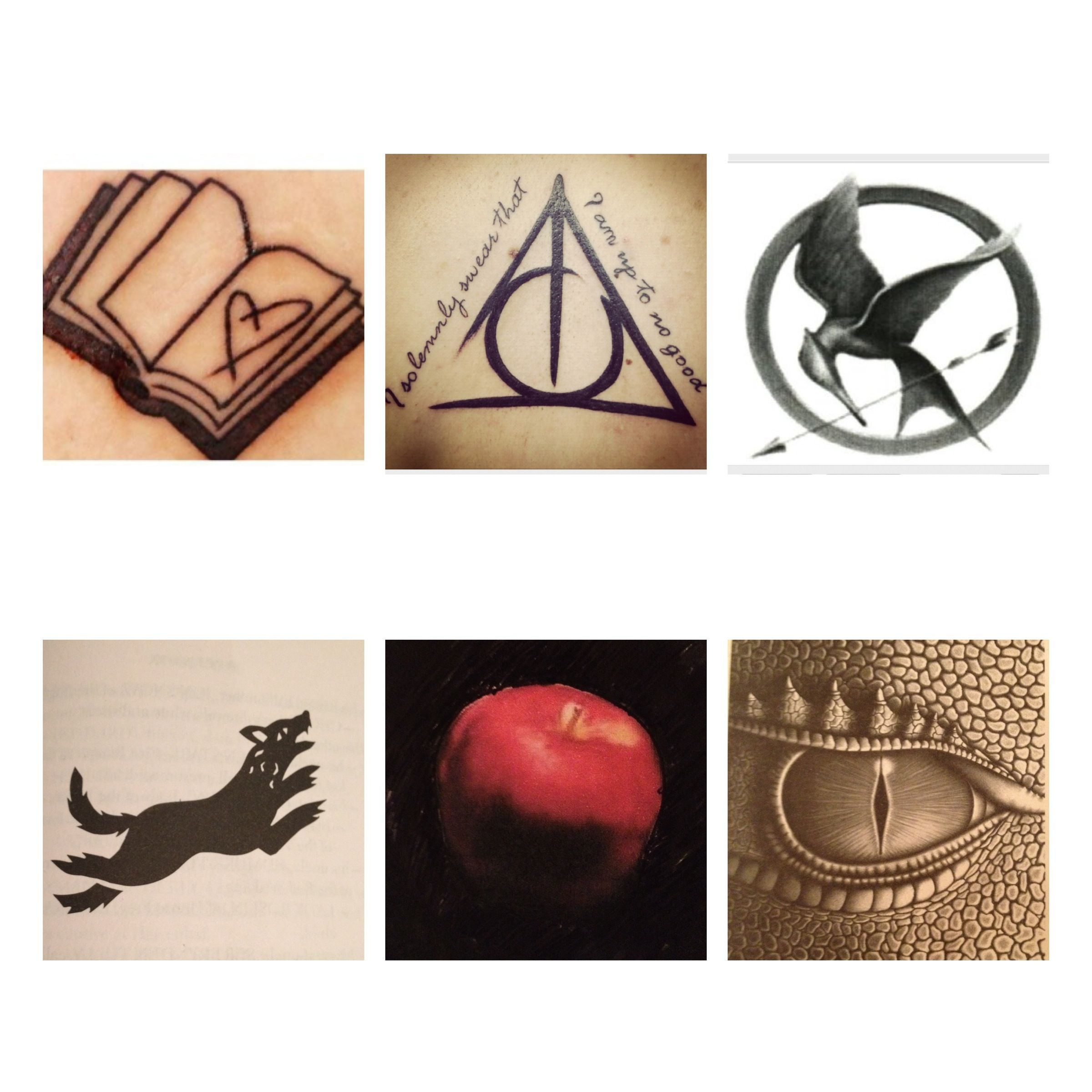 Some more ideas for a tattoo I want to get. This represents my love of books and some of my favourites