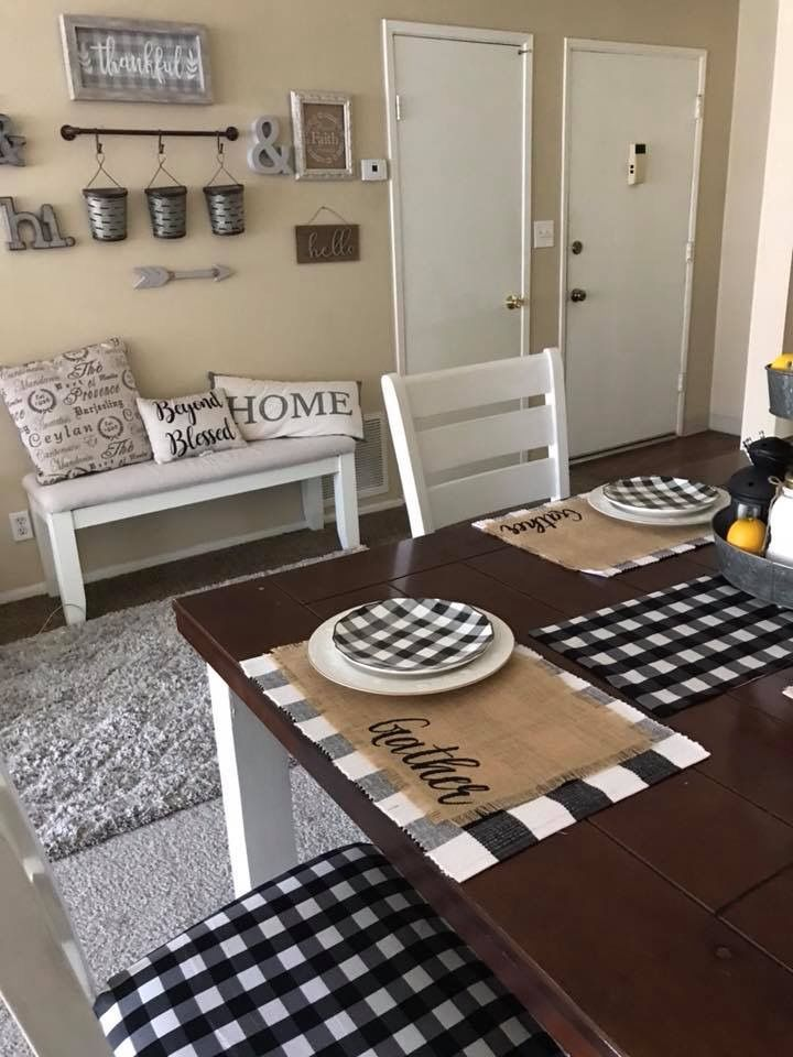 Best Classic Black And White Grid Tablecloth Farmhouse Style 400 x 300