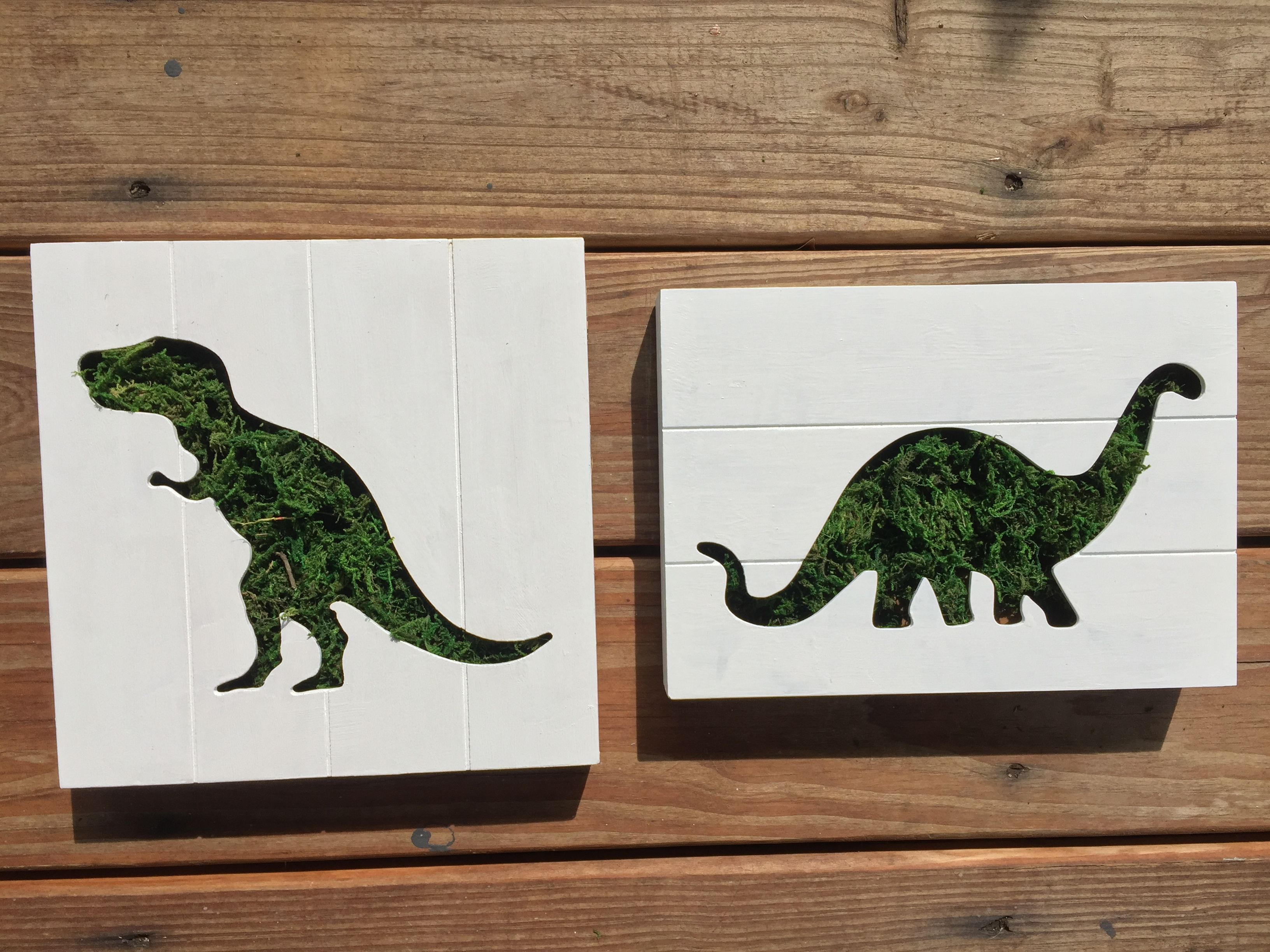 DIY topiary dinosaur shadow boxes from Target dollar spot finds ...
