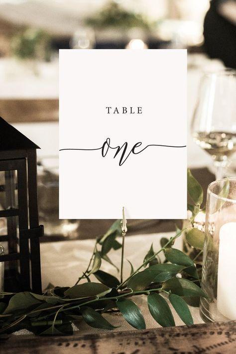 Rustikale Eleganz Tischnummern - DIY druckbare Hochzeit Tischnummern, Hochzeit Vorlage - PTC01