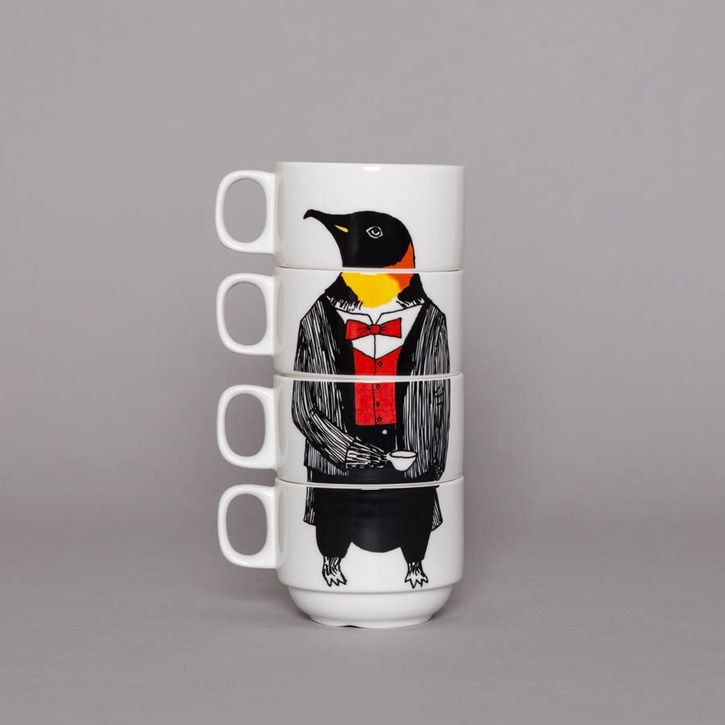 JimbobArt 'Mr Penguin' Coffee Cup Set | Prezola - The Wedding Gift List