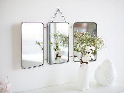 Miroir de barbier Triptyque, 54,90 \u20ac Delamaison DECORATION MURALE