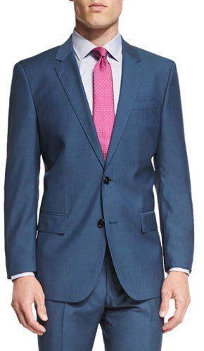 5bb203dc Boss Hugo Boss Huge Genius Slim-Fit Basic Suit, Teal | Suits | Suits ...