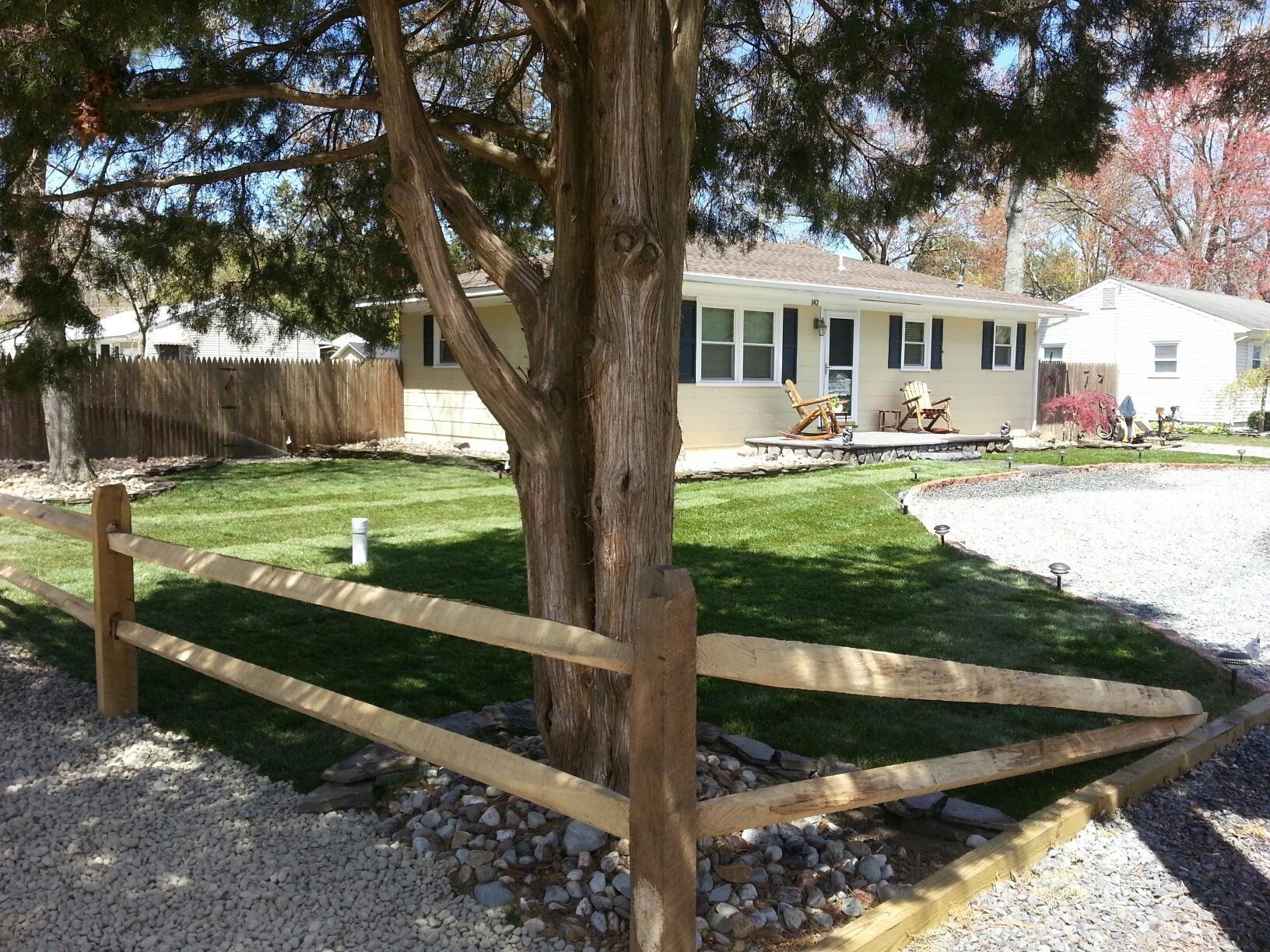 After Super Storm Sandy Split Rail Fence Rustic Backyard