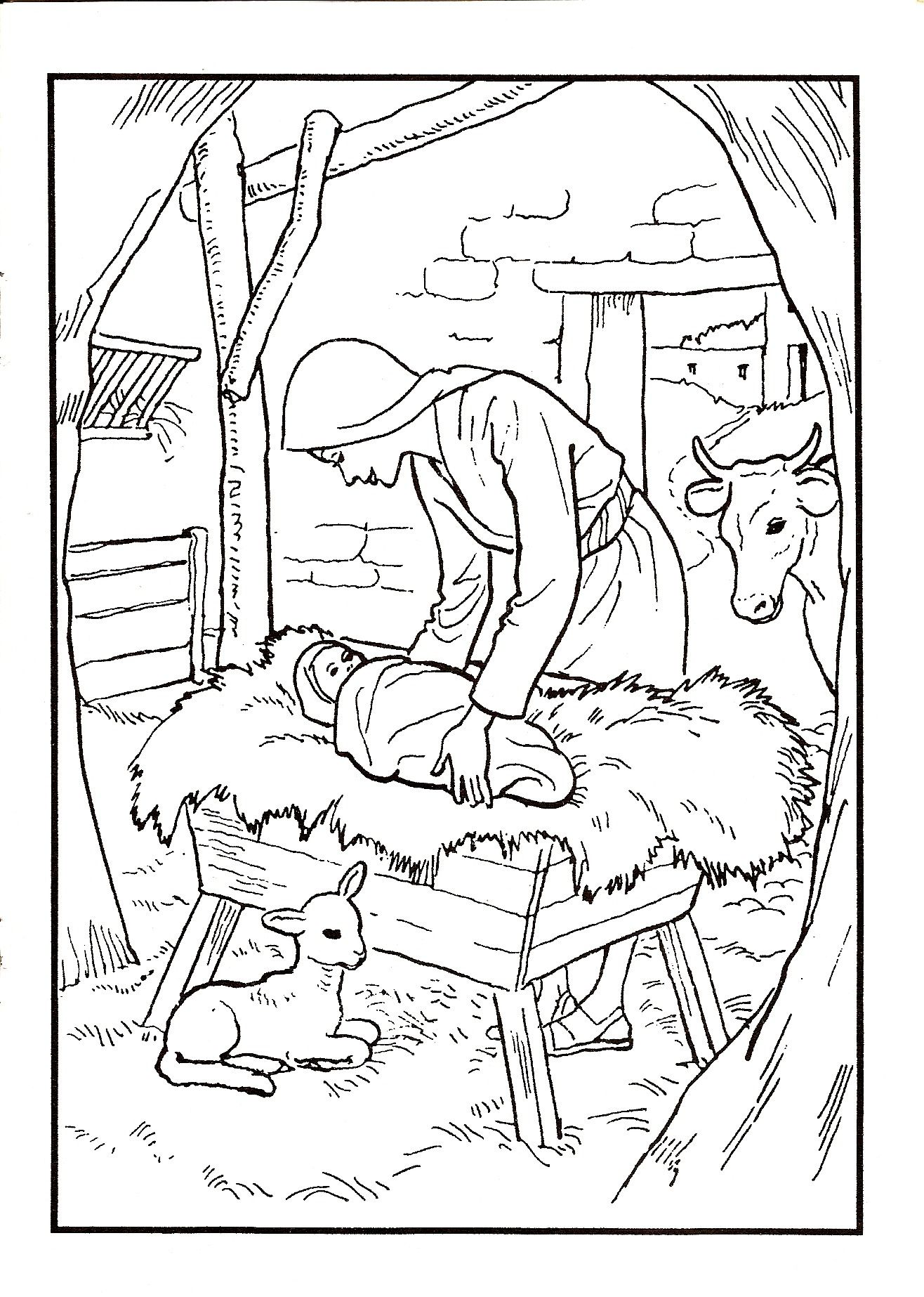 Jesus birth | Jesus crafts, Coloring pages, Birth of jesus