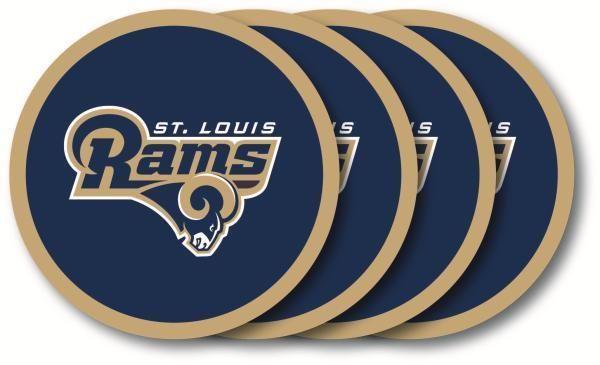 ST LOUIS RAMS 4 PACK VINYL COASTER SET FROM DUCKHOUSE SPORTS #DuckhouseSports #StLouisRams
