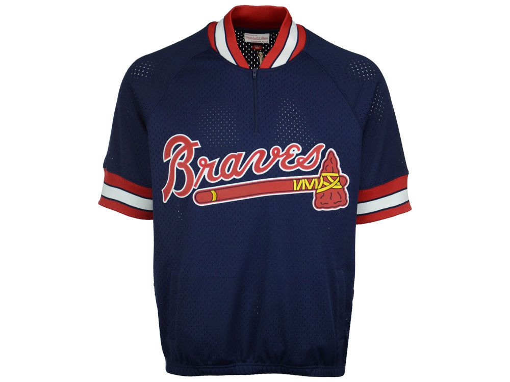 Atlanta Braves Mitchell And Ness Mlb Men S Bp Mesh Jersey Top Braves Apparel Jersey Top Braves