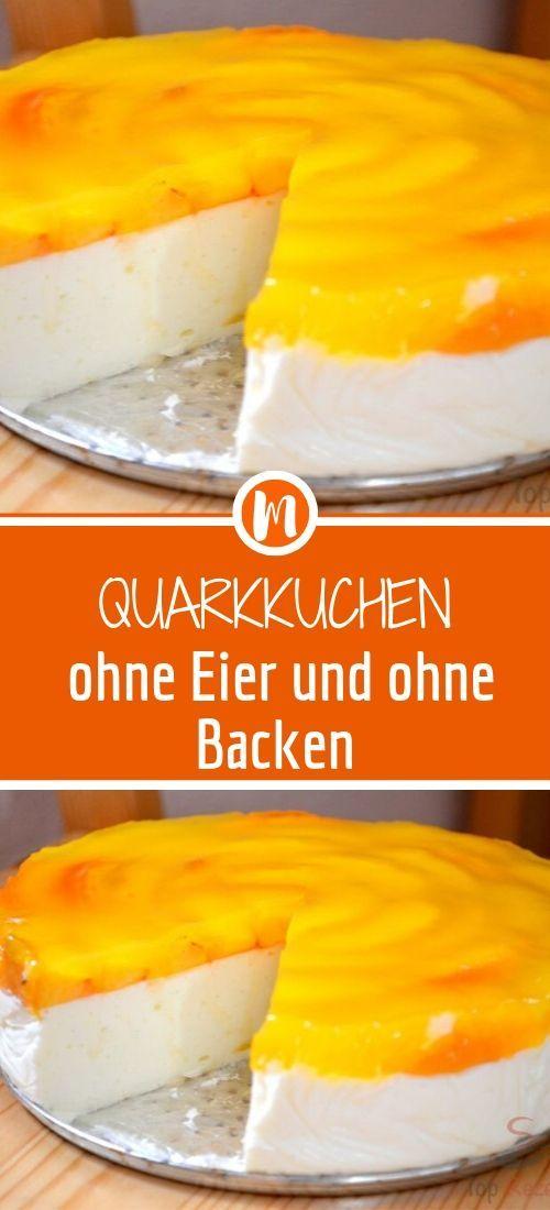 Quarkkuchen ohne Eier und ohne Backen #löffelbiskuitrezept