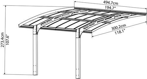 Palram 10x16 Arizona Wave 5000 Metal Carport Kit (HG9105)   Carport ...