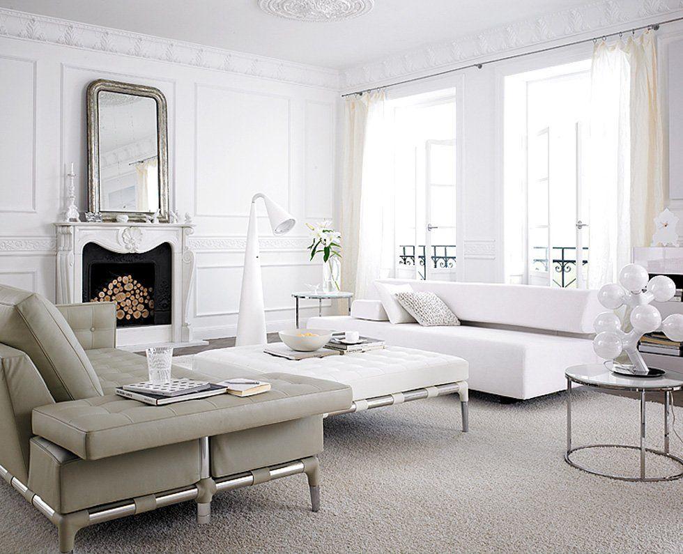 soggiorni contemporanei ? 100 idee e stile per un soggiorno ... - Soggiorno Total White