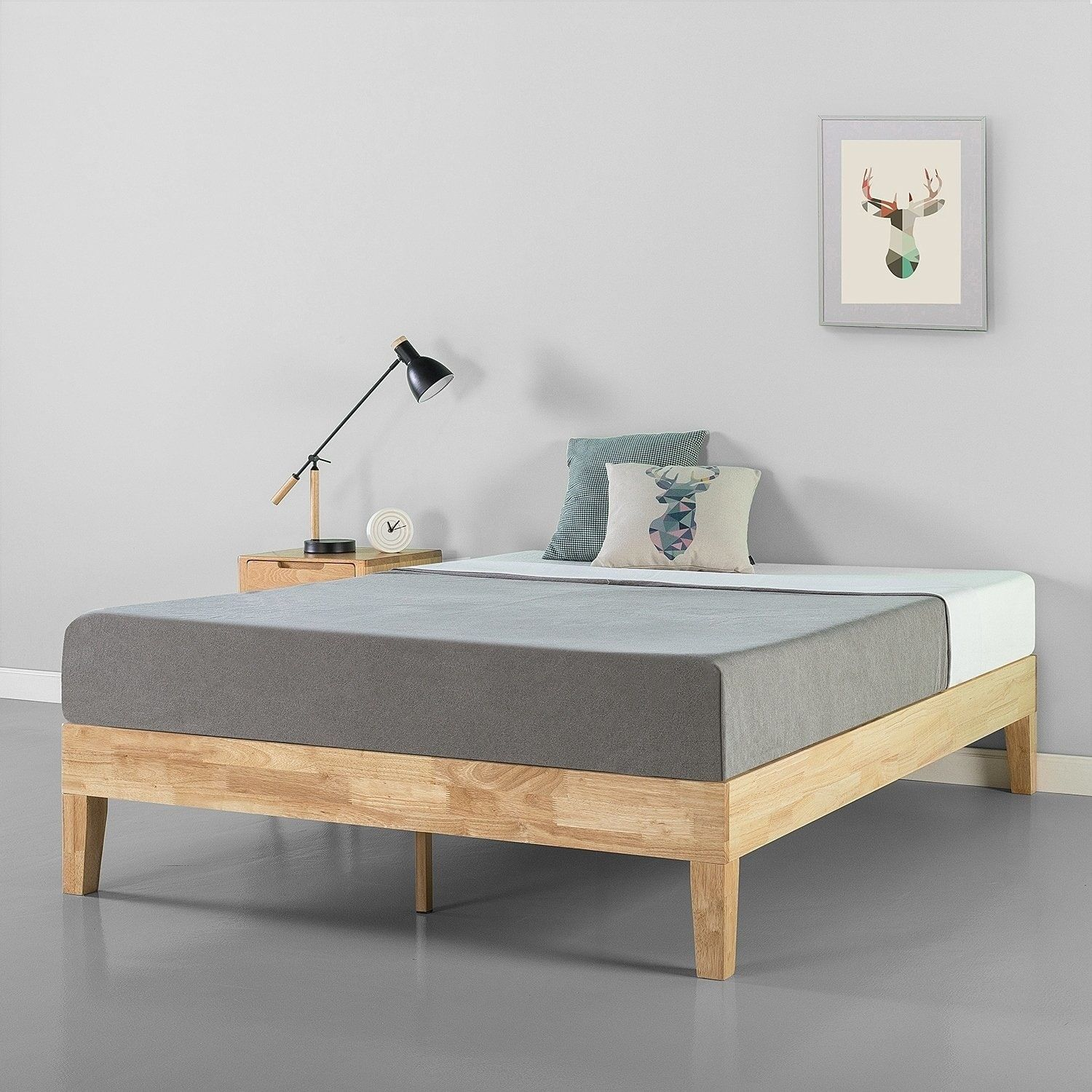 Priage By Zinus 14 Inch Deluxe Solid Wood Platform Bed With
