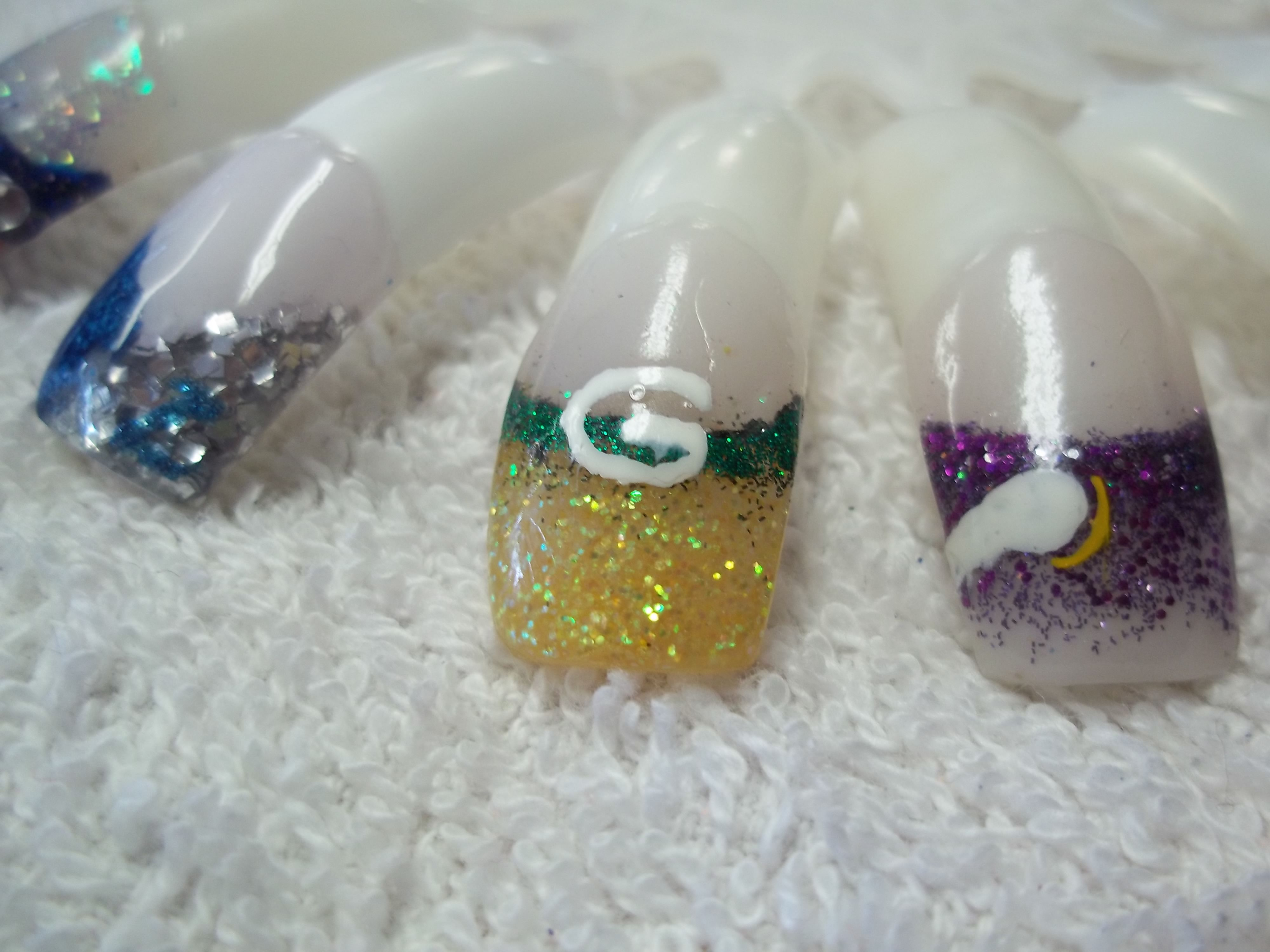 NFL Football Nails Designs Detroit Lions Green Bay Packers Minnesota ...
