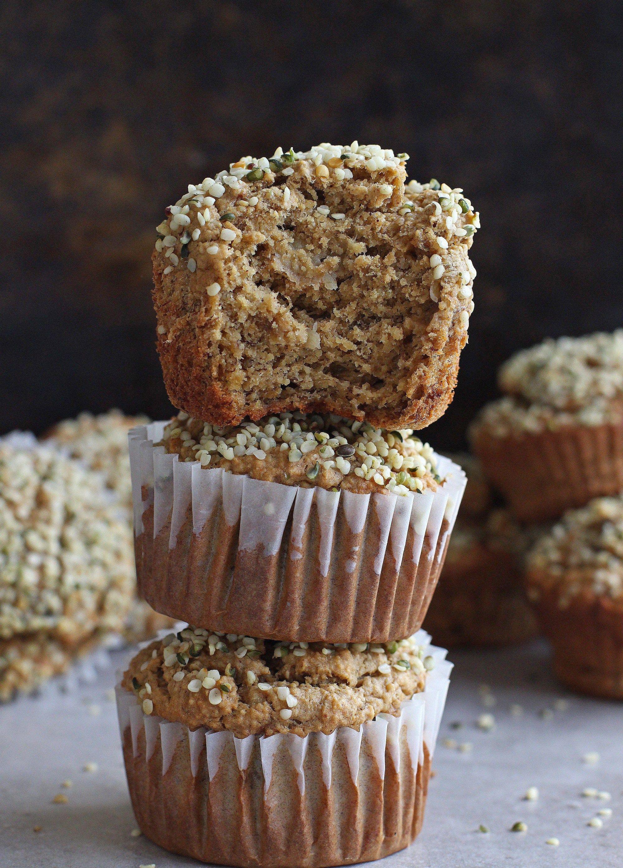 Banana Hemp Seed Muffins Gluten-Free & Vegan - Katalyst ...