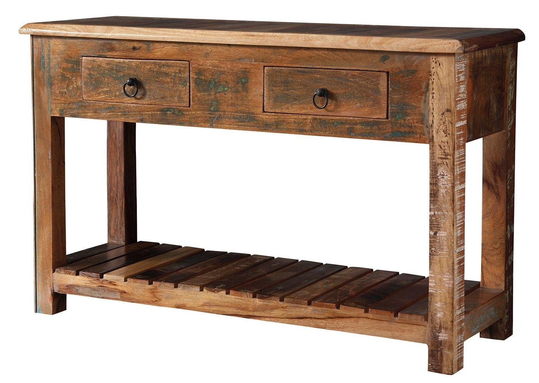Transitional Reclaimed Wood Console Table Coaster 950364 Boys  # Table Tv Bois Dur
