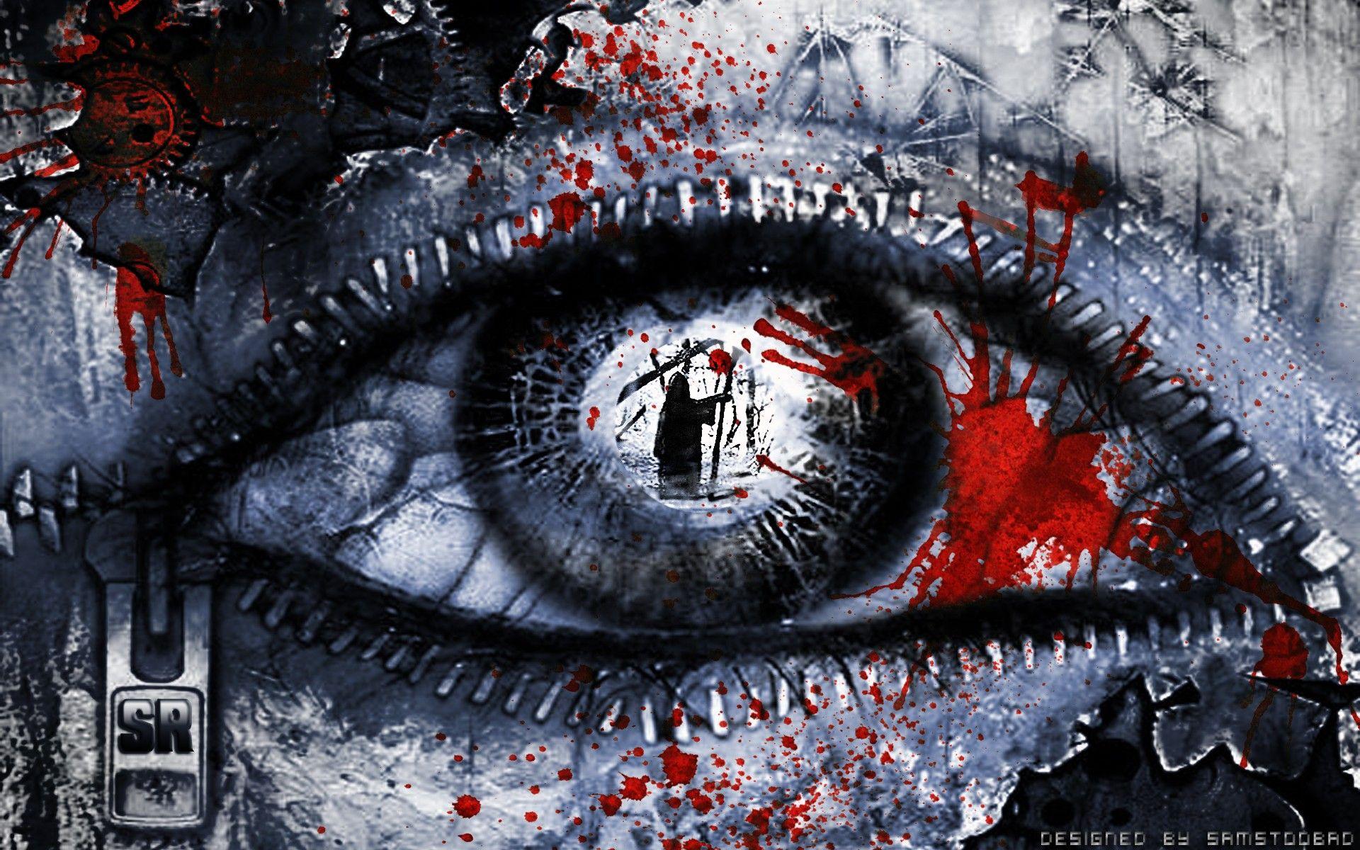 Hd Wallpaper Eyes Blood Dead Gore Artwork Rich