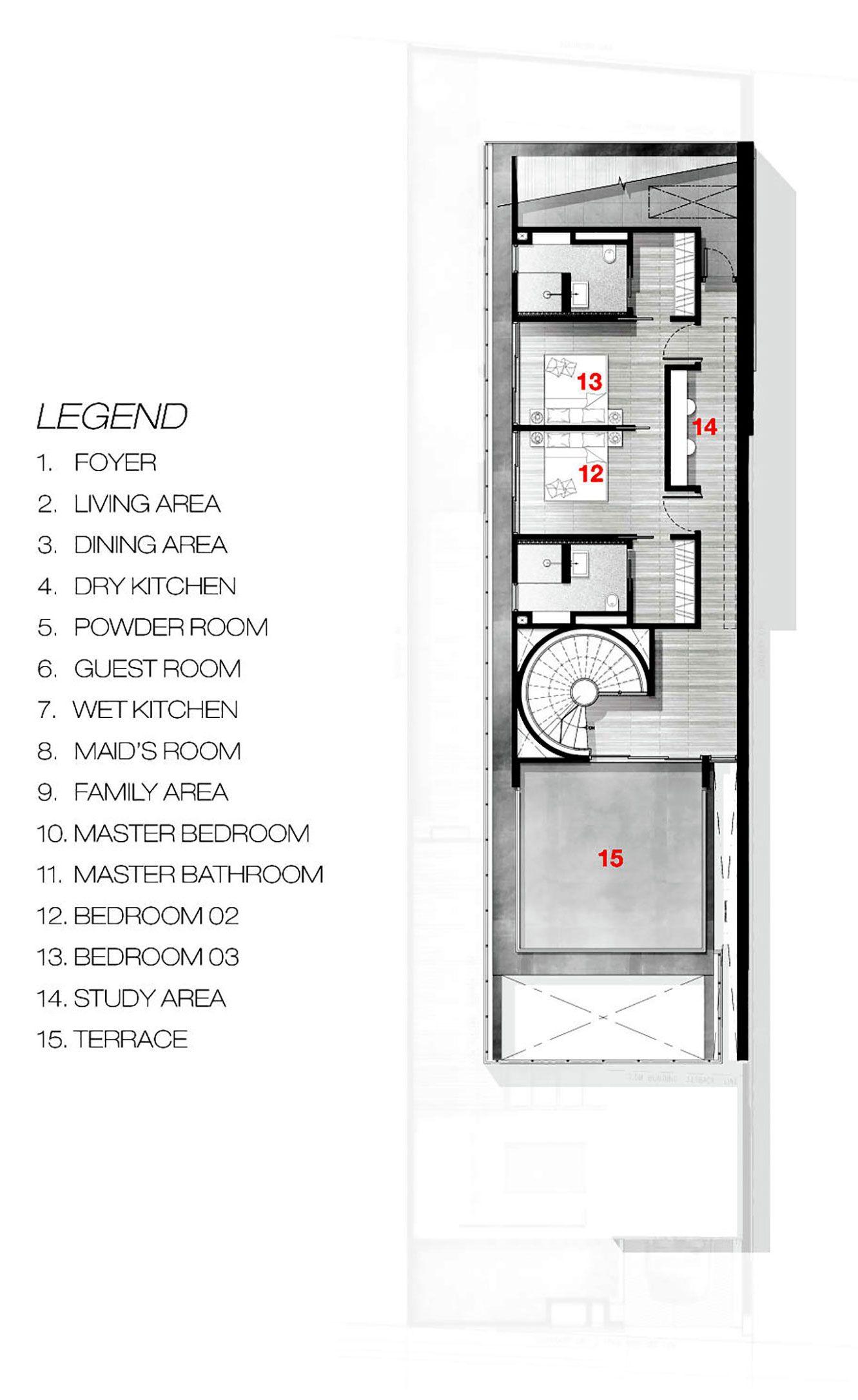 Greja House By Park Associates Denah Rumah Arsitektur Dekorasi Rumah