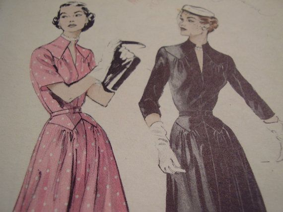 Vintage 1950's Butterick 6499 Dress Sewing Pattern by TheLastPixie 14.50$