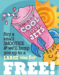 picture about Ben and Jerry's Printable Coupons referred to as Ben Jerrys is marketing a No cost Weighty Smoothie Update Towards