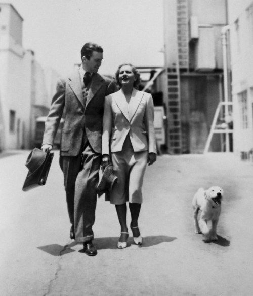"""Jimmy and Jean arthur on the set of """"Mr. Smith Goes To Washington"""" (1939)"""