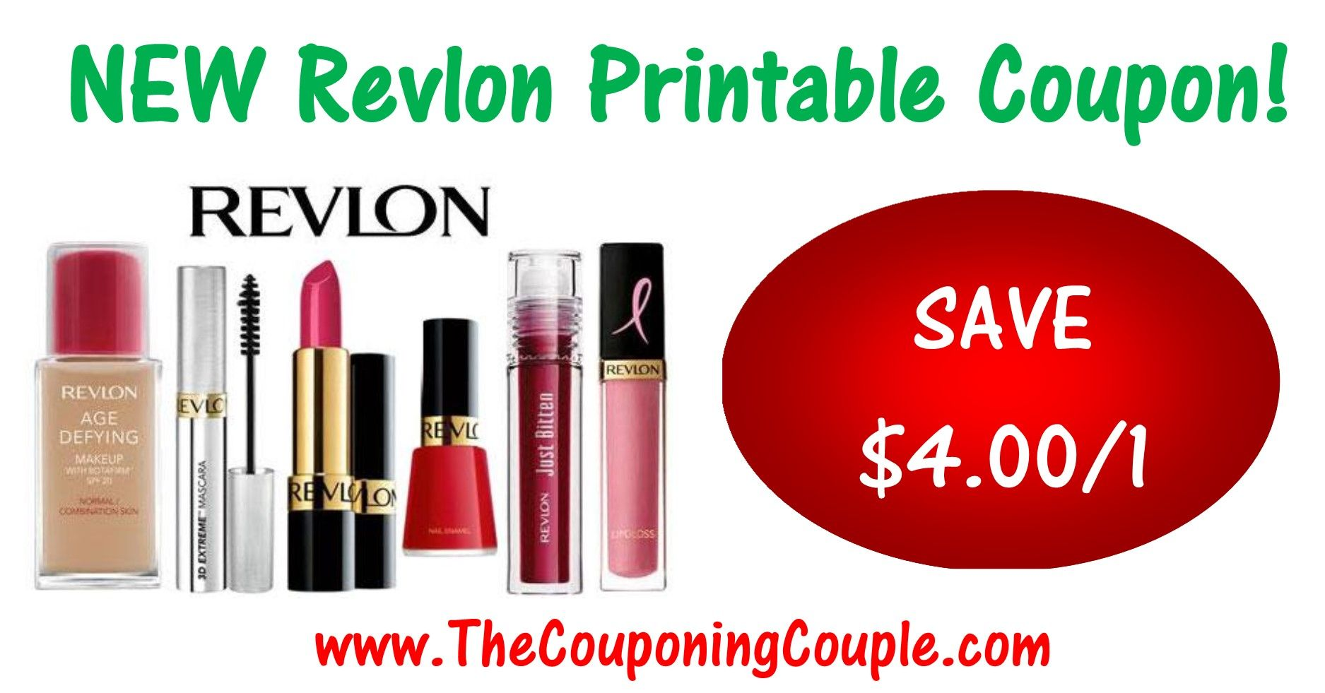 High Value Revlon Printable Coupon 4 00 1 Print Now Print Coupons Printable Coupons Revlon