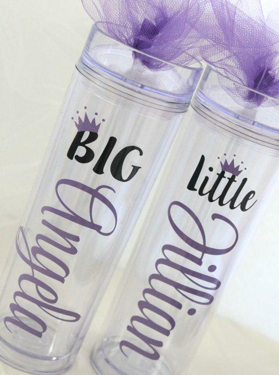 Big and Little Tumblers Big Little Sorority by MonogramRevolution #biglittlereveal