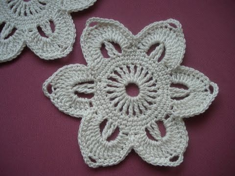 Potholders Crochet - Crochet pattern Flower step by step #irishcrochetflowers
