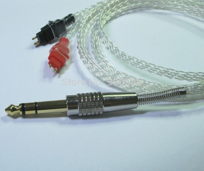 1.5m 5ft Handmade 8 core 4N OCC Flat braid Silver plated Headphone ...