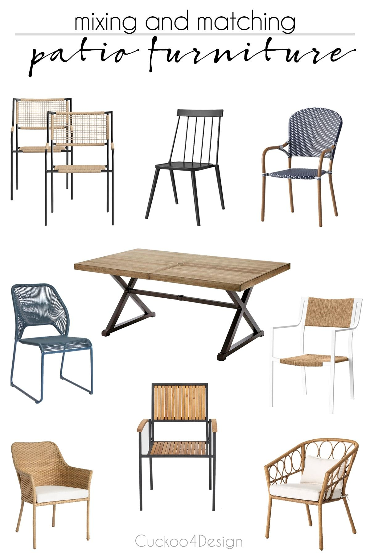 Mix And Match Patio Furniture Tips In 2020 Patio Dining Chairs