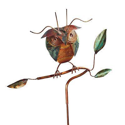 Copper Owl Garden Stake