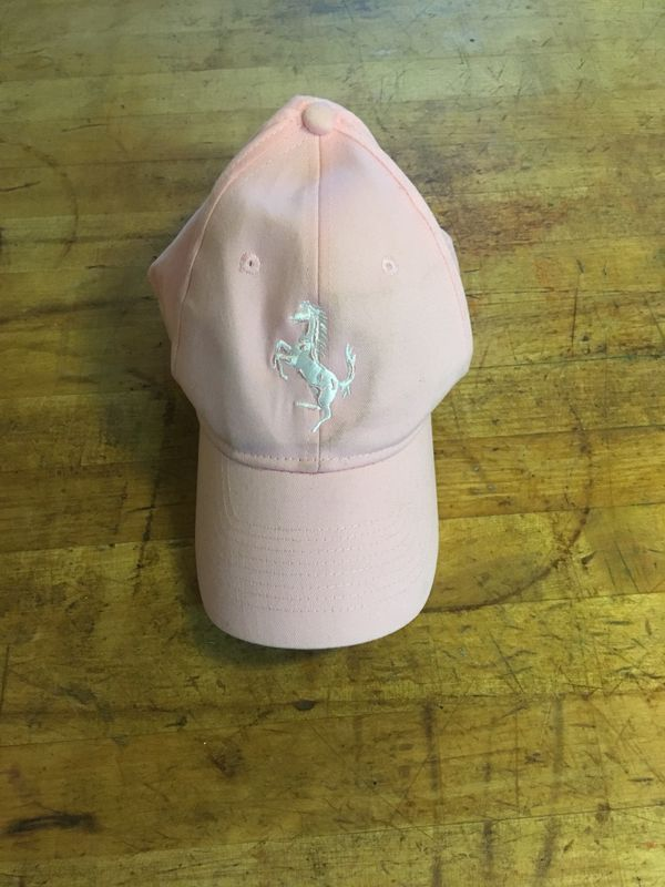 Adjustable pink Ferrari hat #pinkferrari Adjustable pink Ferrari hat #pinkferrari
