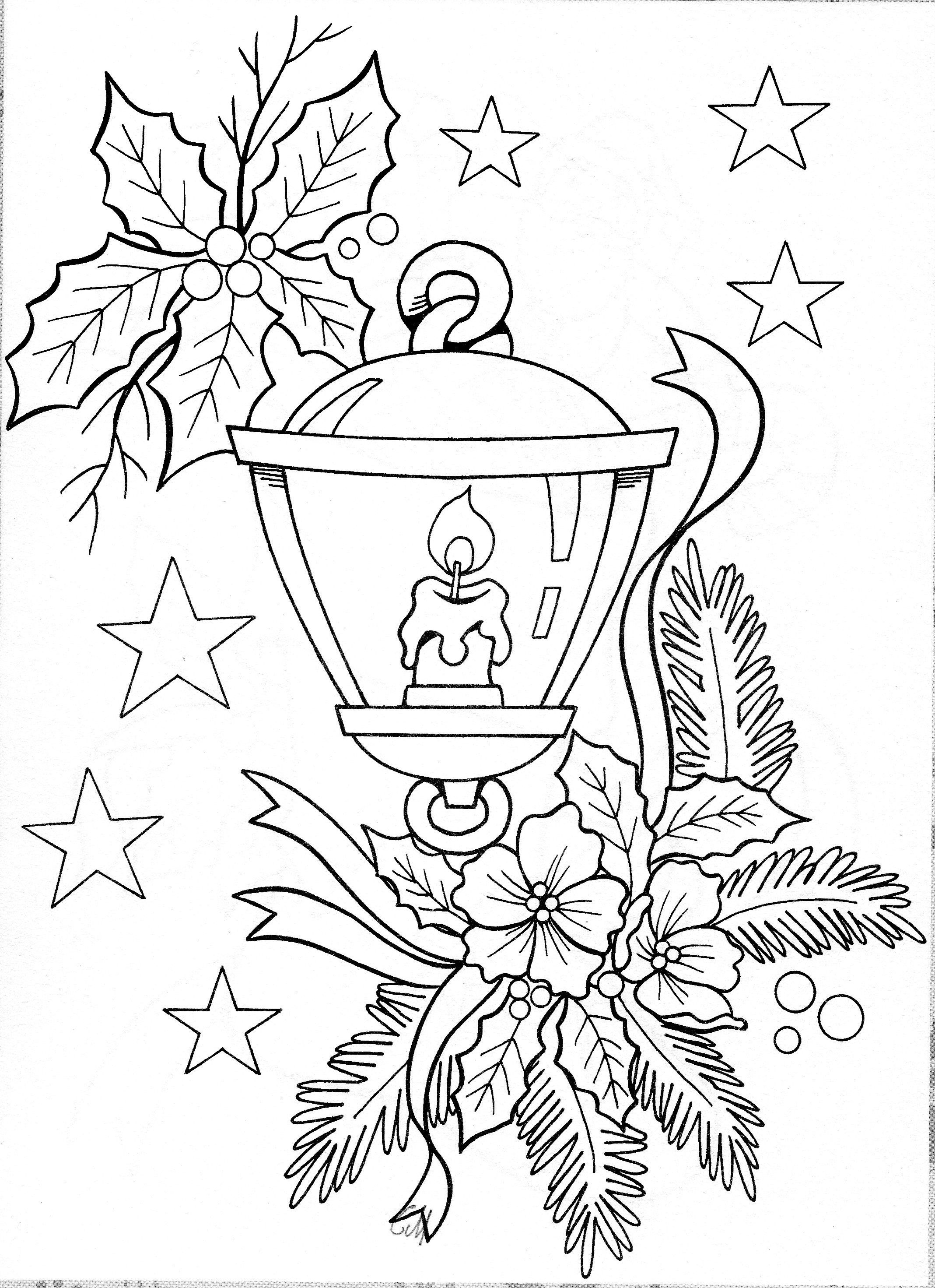 Printables Coloring And Embroidery Pages Christmas Coloring