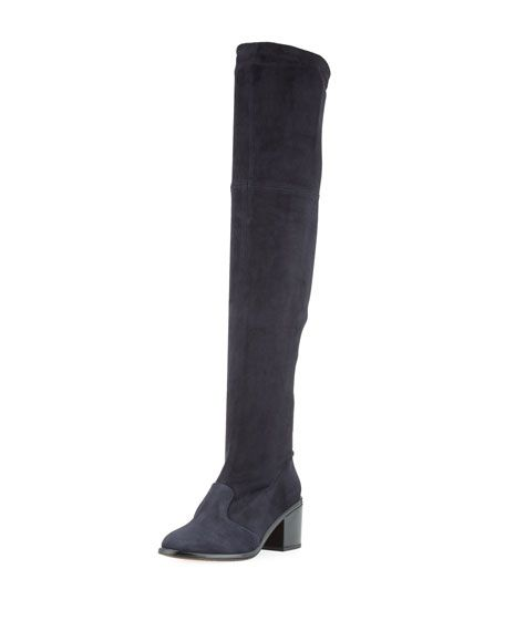 1d715c72b83 ROBERT CLERGERIE Mepe Stretch-Suede Tall Boot