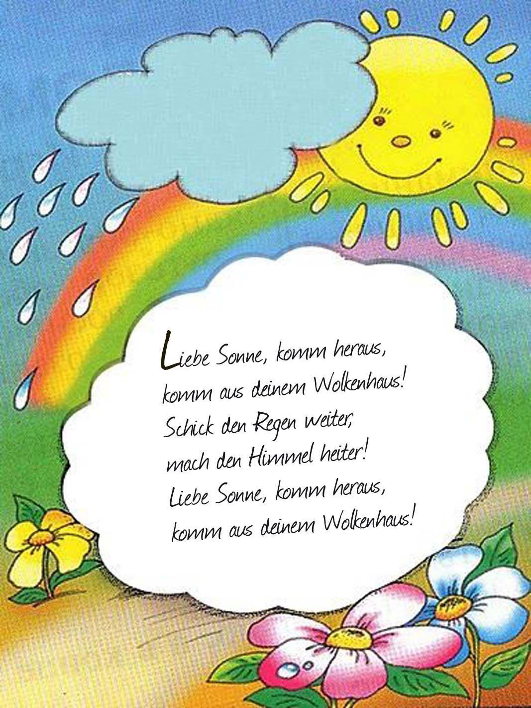Gedicht f r kinder musik kinder pinterest kinder lied kindergarten lieder und gedichte - Sonnen regenschirm fur garten ...