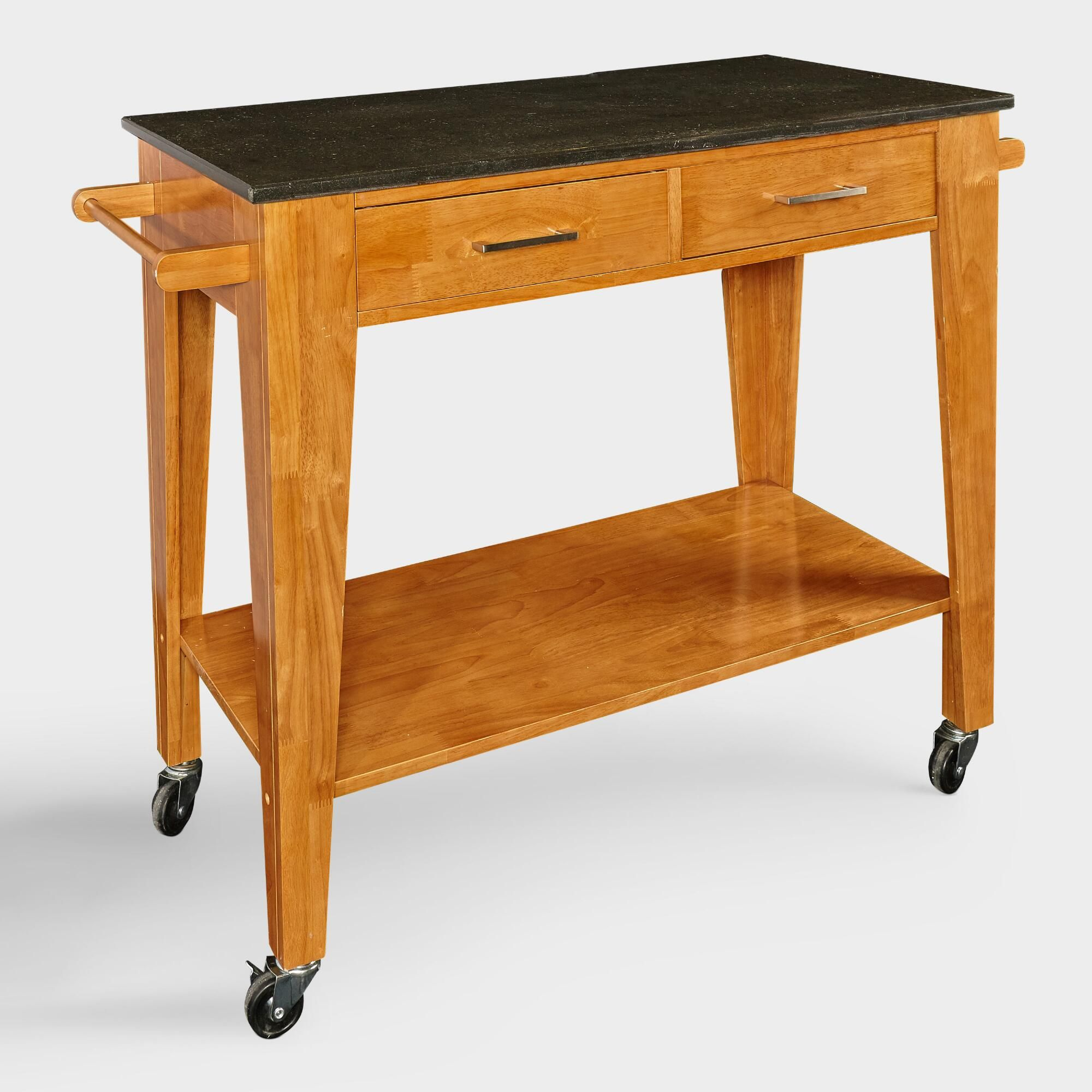 Black Granite Top Oakpark Kitchen Cart by World Market | Products ...