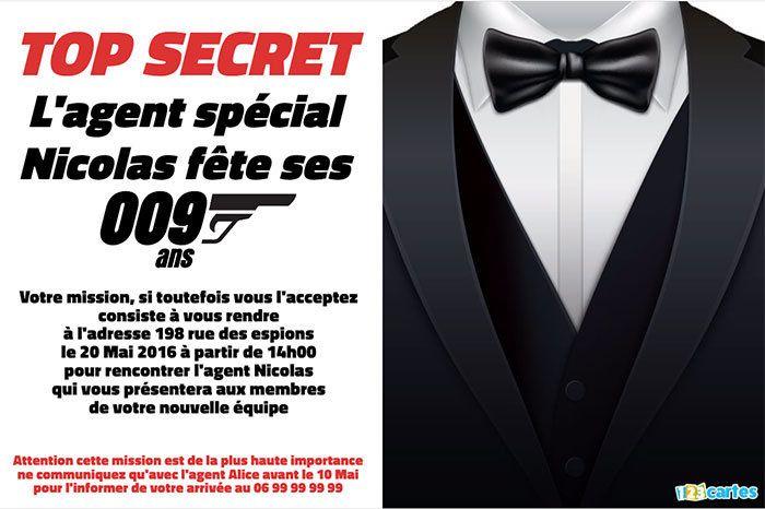 anniversaire agent secret