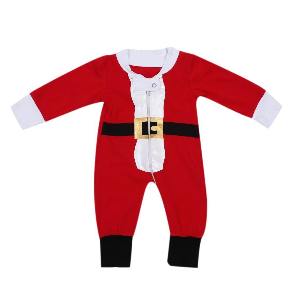 Christmas Newborn Baby Rompers Xumas Outfits Zipper Romper Jumpsuit