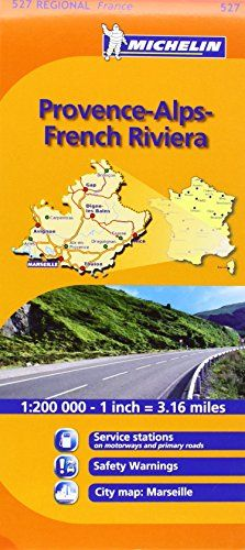 Mapa Regional Provence-Alps-French Riviera (Carte nazionali)