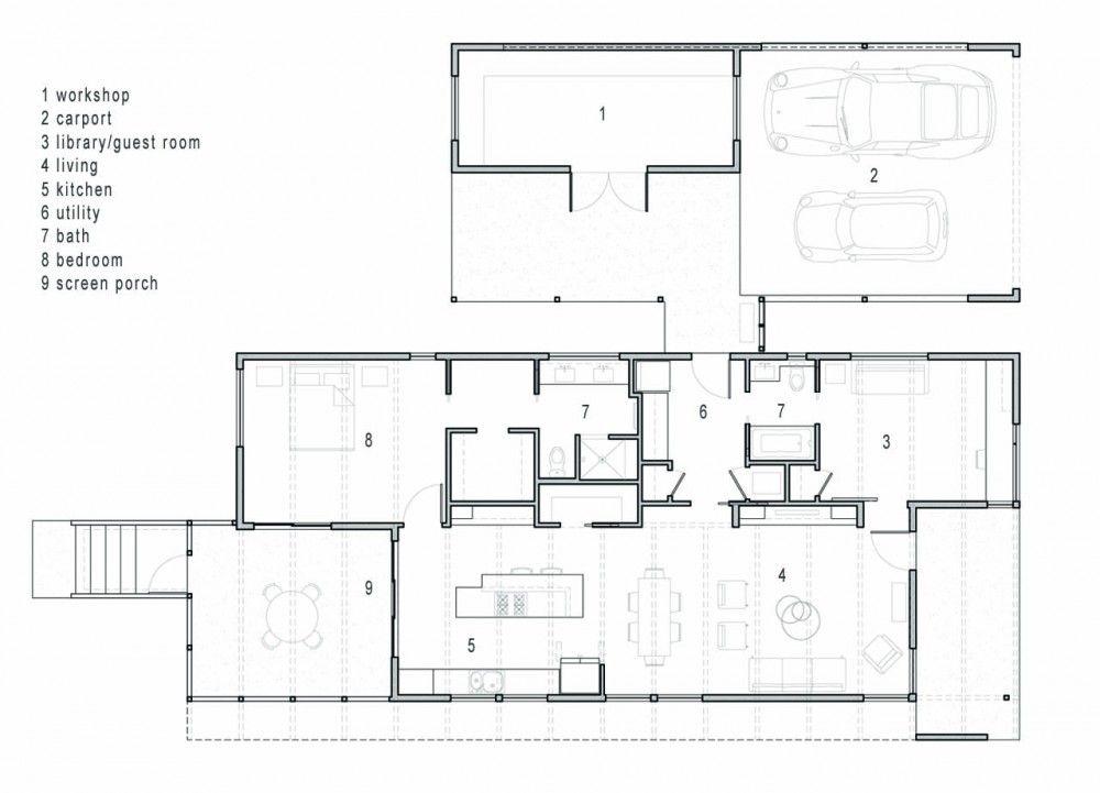 Allen Residence Skiles Architect House Floor Plans Architect Floor Plans