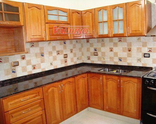 Gabinetes verdes para cocina colonial Muebles de cocina en madera