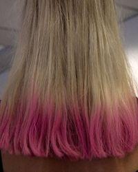 Pink Dip Dye Pink Hair Tips Dip Dye Hair Hair Color Dip Dye