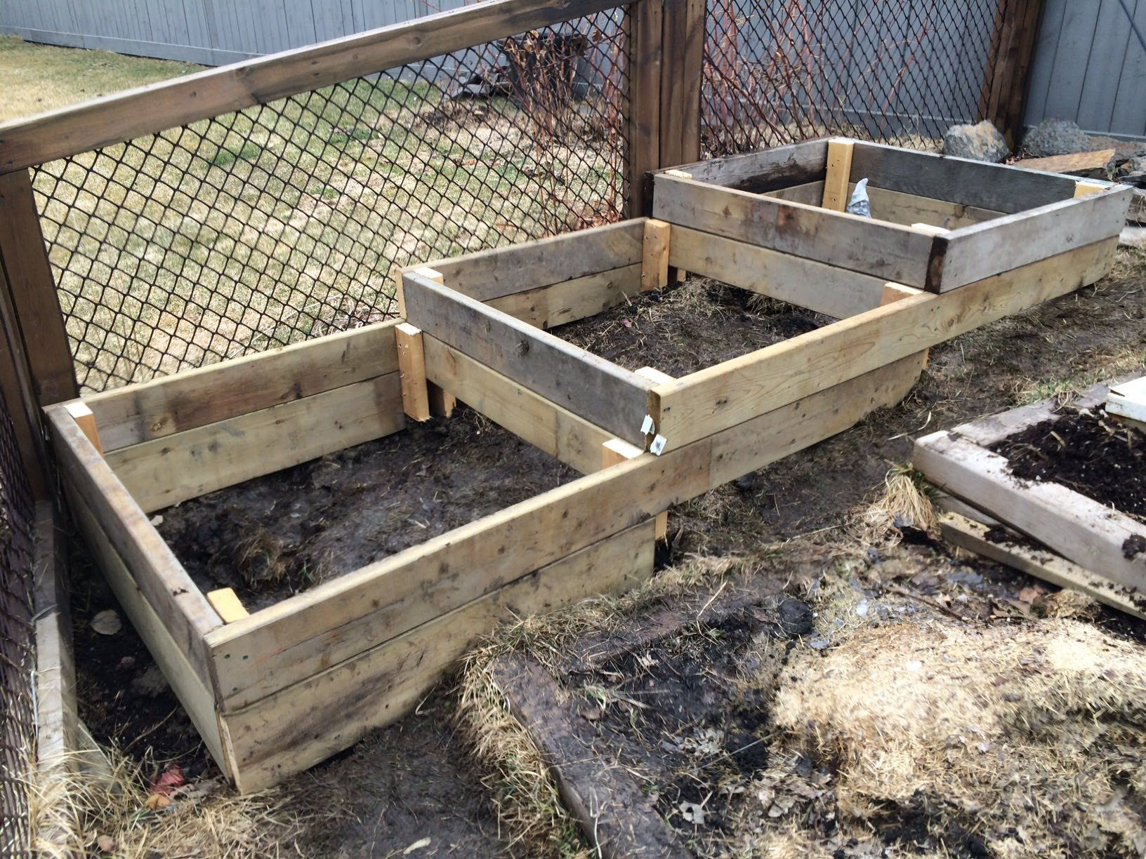 Building raised beds can be simple if your are on flat land What