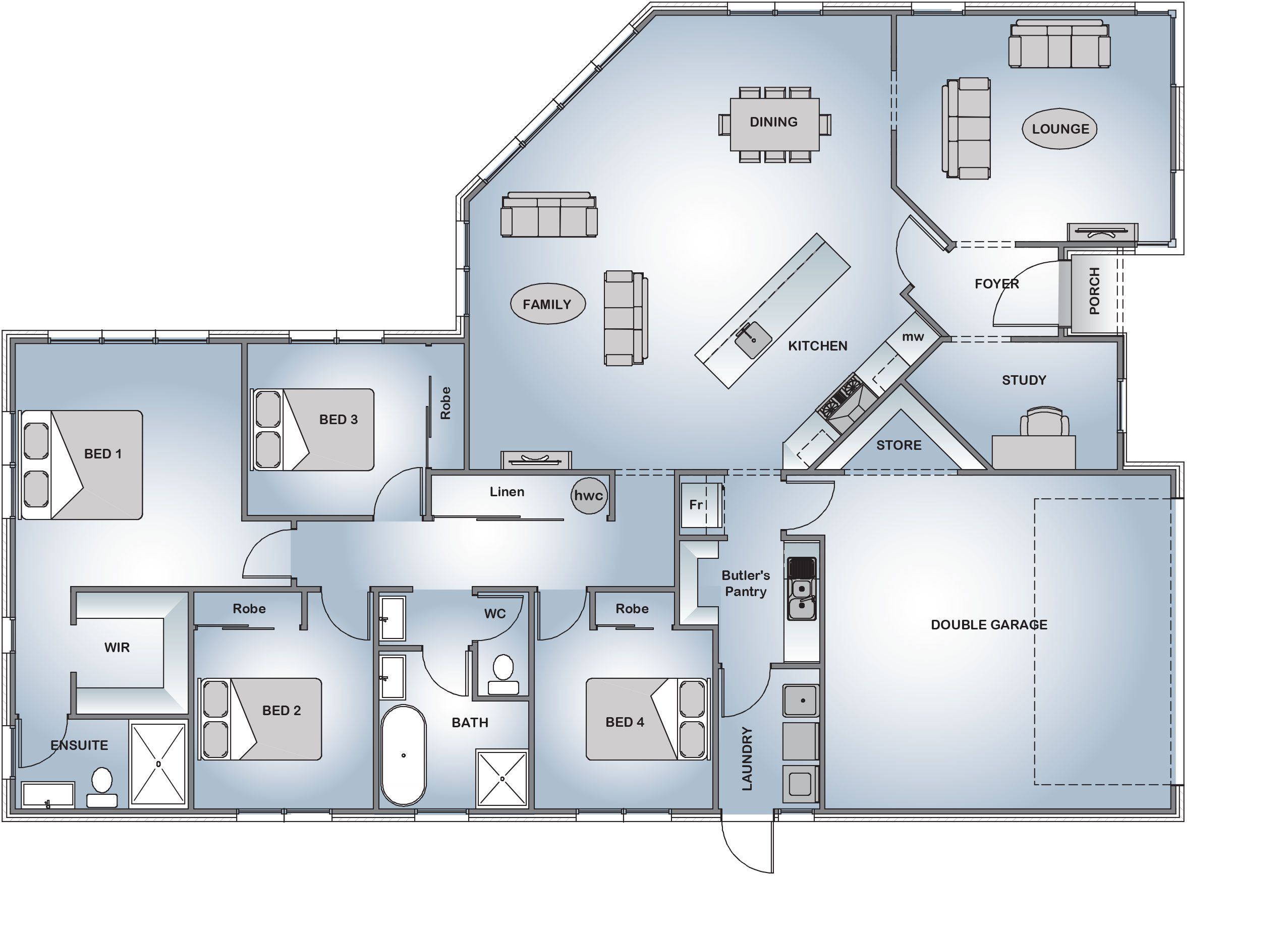 Nice Stonewood Homes Floor Plans Part - 5: Stonewood Homes - Renwick - 222m2 · Home Floor PlansHouse ...
