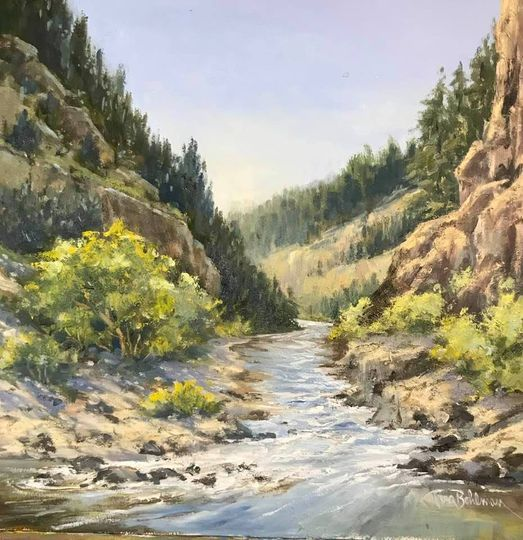 "Congrats to IPAP member-Tina Bohlman-Excited that my ""Rio Grande Vista"" , 12x12 Oil, was accepted in the Women Artists of the West national show! The exhibition is in the Museum of Western Art in Kerrville, TX., Feb. 5 - March 19. YAY! #TinaBohlman #RioGrande #IPAP #pleinair"