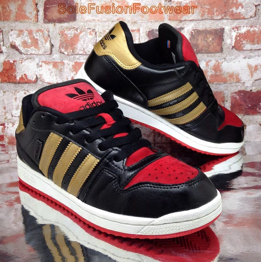 lowest price 29a27 dc9db adidas Originals Mens Comptown ST Shoes BlackRed sz 7.5 Retro Sneakers US  8 41
